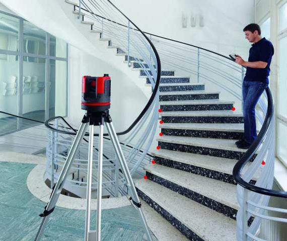pomiar schodów trójwymiarowy