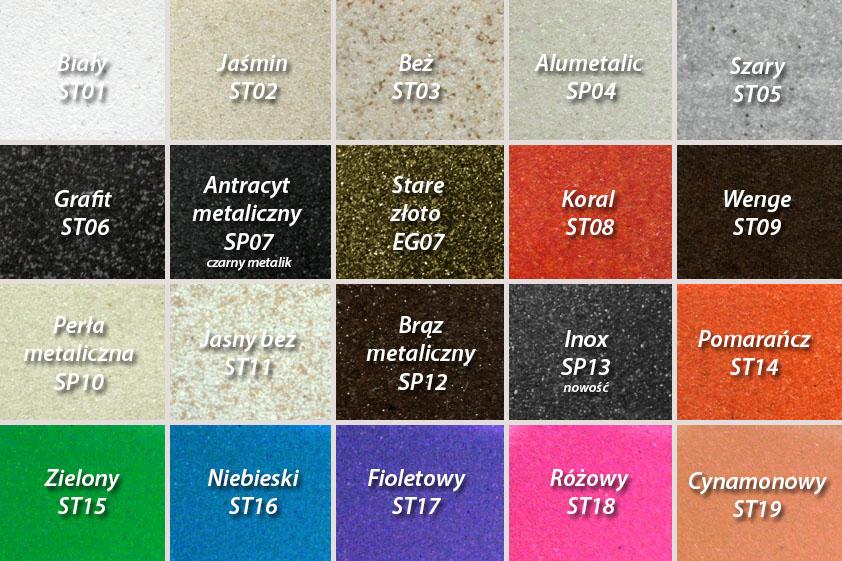 paleta kolorów zlewów